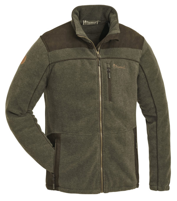 5067-702-1-Fleece Jacket Prestwick Exklusive - Olive mel Suede Brown (345)