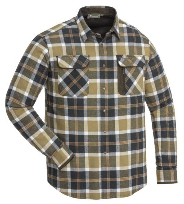 Passt immer! Elegantes und kräftiges Flannellhemd in wunderbaren Farben. Gefüttert mit High-Ventilation™ Mesh für extra Komfort. 2 Brusttaschen mit Abdeckung und 1 RV Tasche. 100% Baumwolle, Innenmaterial 100% Polyester.