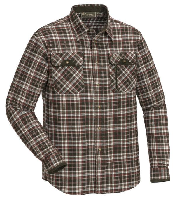 Pinewood Prestwick Hemd weiss-braun