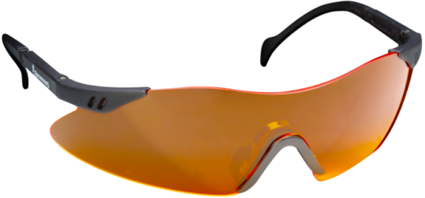 Schiessbrille orange