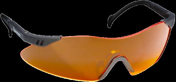Schiessbrille orange