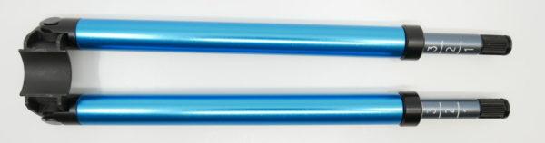 Zweibeinstütze PE90 blau