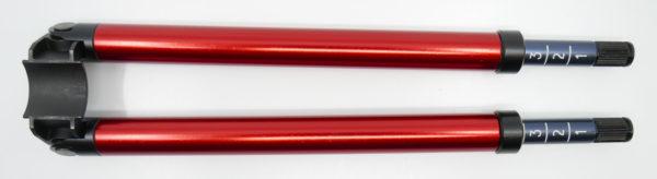 Zweibeinstütze PE90 rot